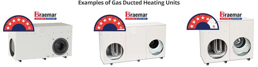gas ducted heating units