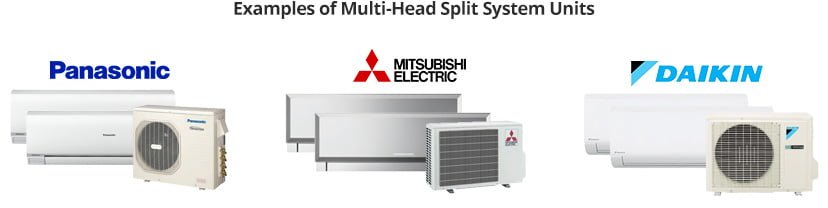 multi head split system units